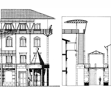 XVII Triennale: elevated tramway for Florence boulevards | Cristiano Toraldo di Francia