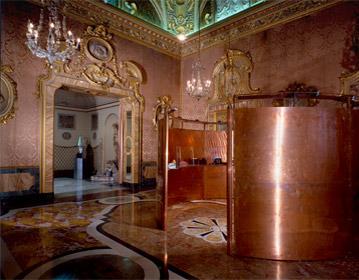 Cento Anni di Gherardini exhibition set up for Ghreradini, Palazzo Rondinini, Rome 1987 | Cristiano Toraldo di Francia