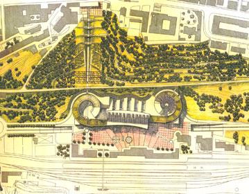Transport interchange, landscaping of Porta Camollia Park | Cristiano Toraldo di Francia