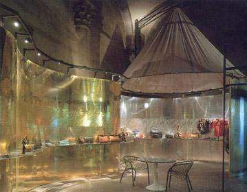 Cento Anni di Gherardini exhibition set up for Gherardini, Loggia Rucellai, Florence 1986 | Cristiano Toraldo di Francia