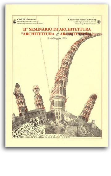 Architettura e Architettura exhibition set up, La fabbrica delle arti, Filottrano 1993 | Cristiano Toraldo di Francia