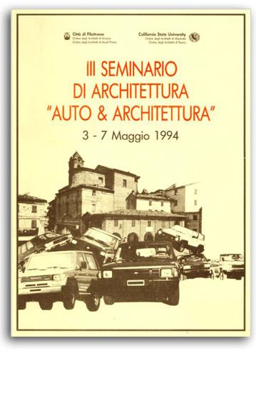 Auto e Architettura exhibition set up, La fabbrica delle arti, Filottrano 1994 | Cristiano Toraldo di Francia