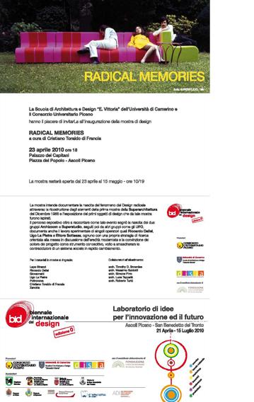 Radical memories BID Ascoli Piceno, Capitani Palace 2010 | Cristiano Toraldo di Francia