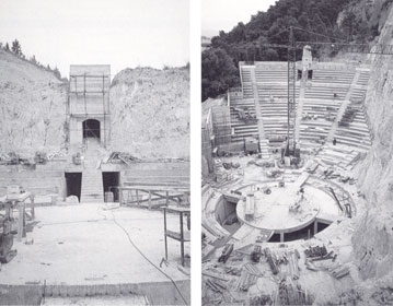 Open air theatre in a misca stone quarry | Cristiano Toraldo di Francia