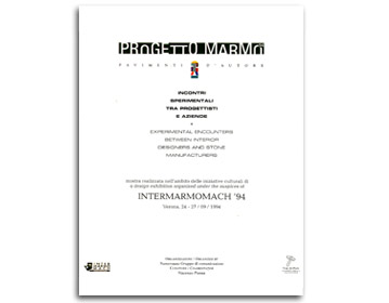 Progetto Marmo Intermarmomach, Verona 1994 | Cristiano Toraldo di Francia