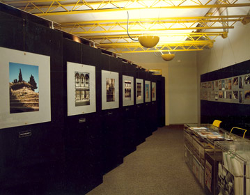 Firenze: Materiali e Colori exhibition set up for Alinari, Florence 1986 | Cristiano Toraldo di Francia